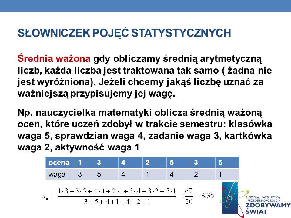 Słowniczek pojęć statystycznych