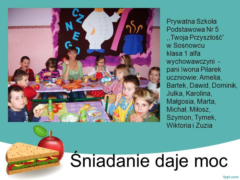 Śniadanie daje moc Prywatna Szkoła Podstawowa Nr 5 ,,Twoja Przyszłość