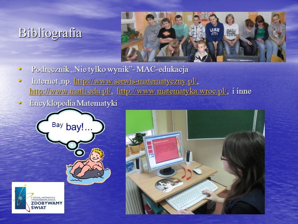 """Bibliografia Bay bay!... Podręcznik """"Nie tylko wynik - MAC-edukacja"""
