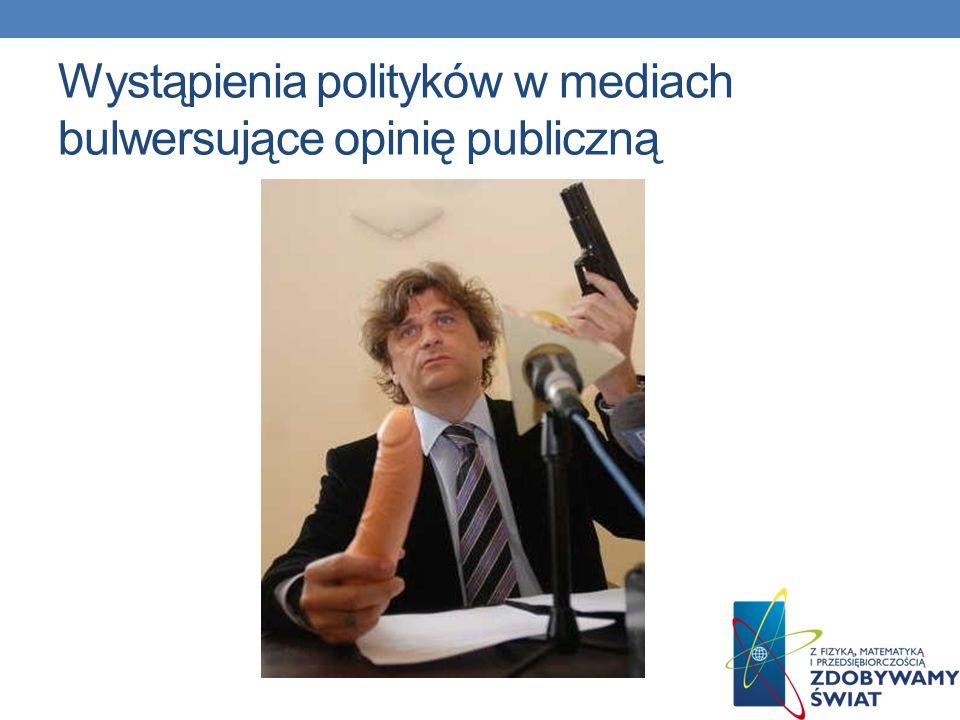Wystąpienia polityków w mediach bulwersujące opinię publiczną