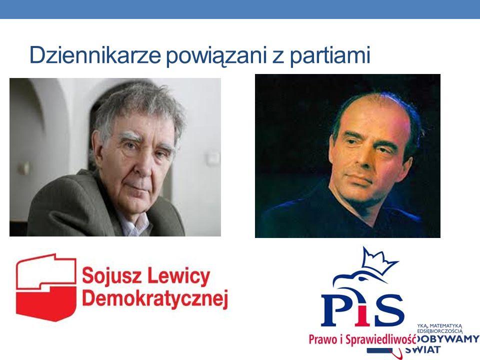 Dziennikarze powiązani z partiami
