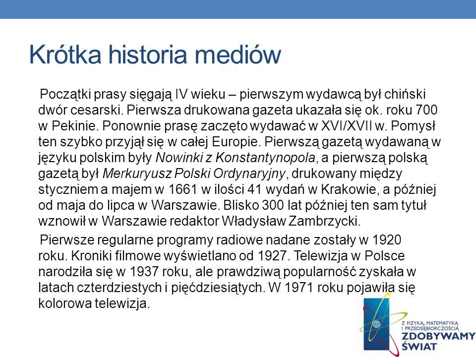 Krótka historia mediów