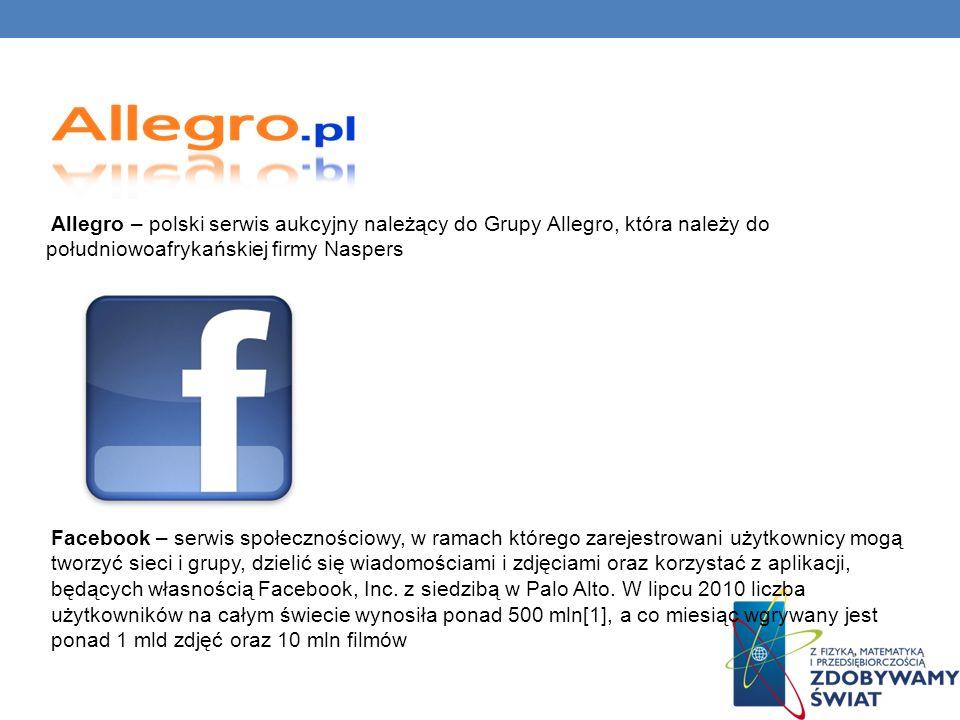 Allegro – polski serwis aukcyjny należący do Grupy Allegro, która należy do południowoafrykańskiej firmy Naspers