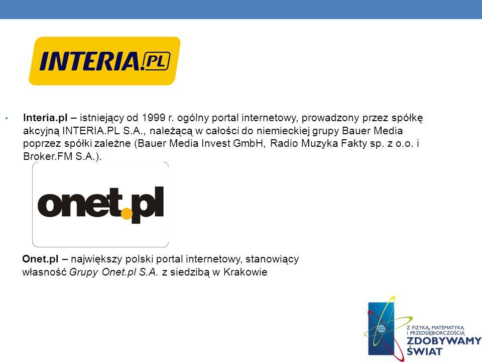 Interia. pl – istniejący od 1999 r