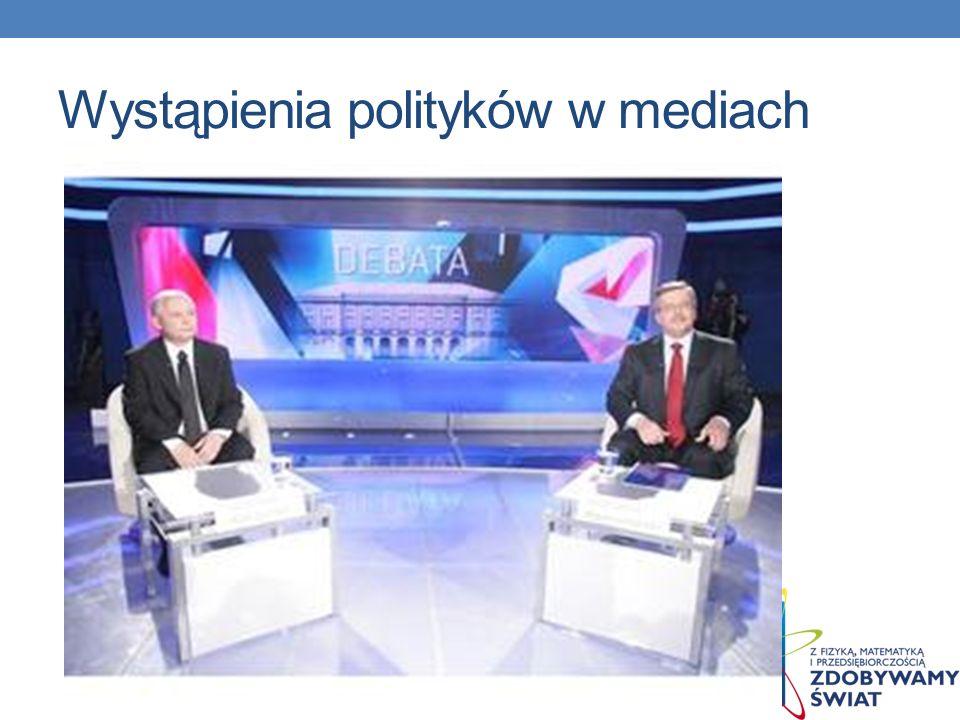 Wystąpienia polityków w mediach