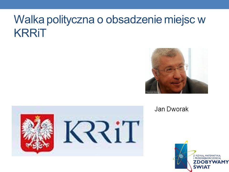 Walka polityczna o obsadzenie miejsc w KRRiT