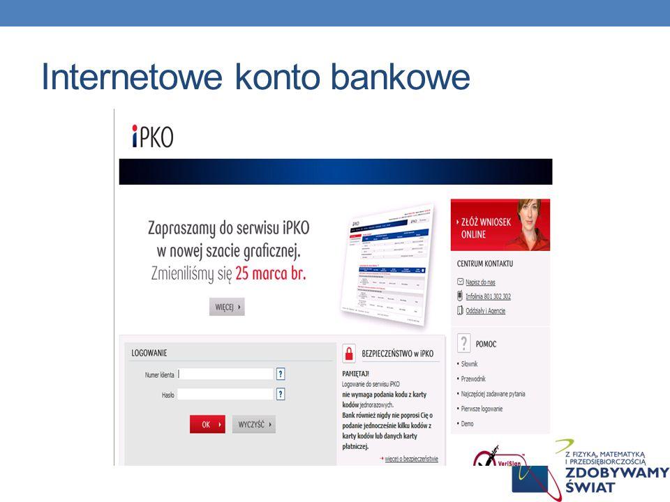 Internetowe konto bankowe
