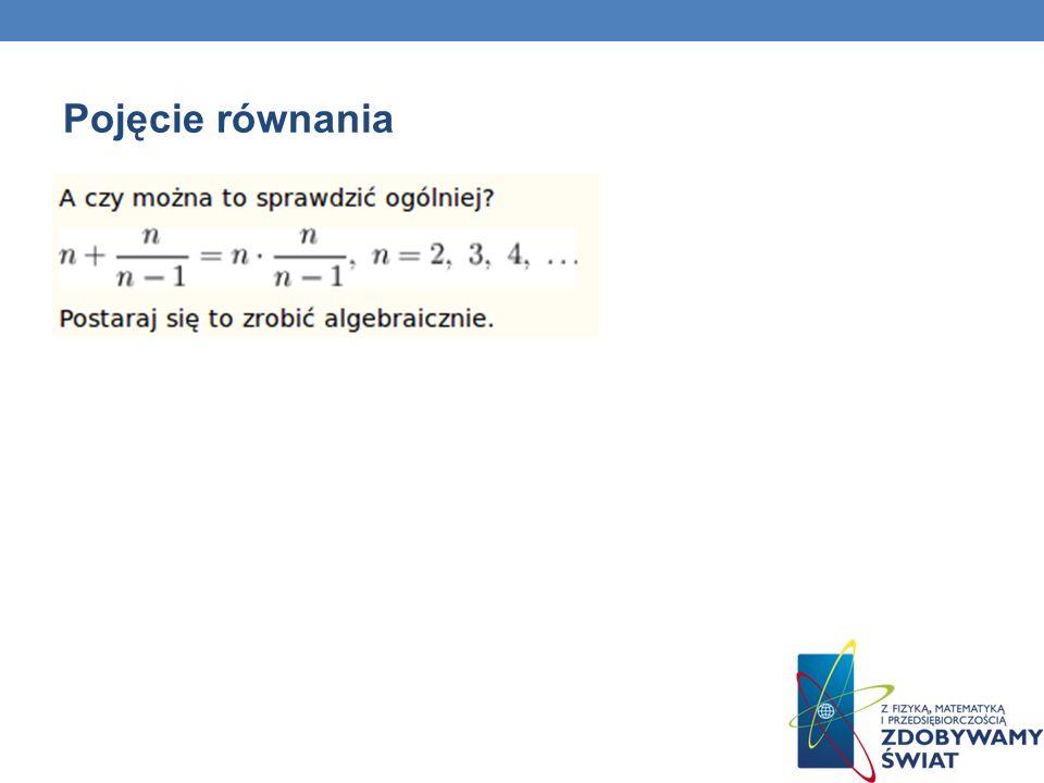 Pojęcie równania 21
