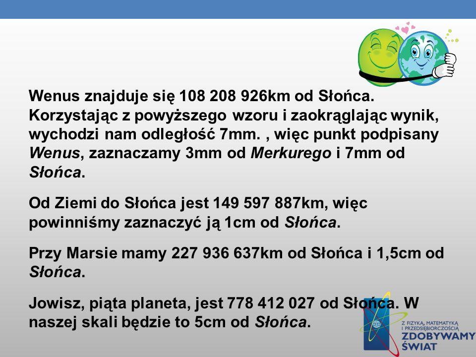 Wenus znajduje się 108 208 926km od Słońca