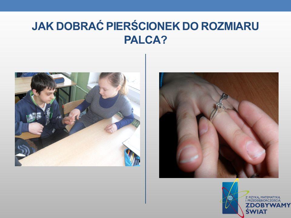 Jak dobrać pierścionek do rozmiaru palca