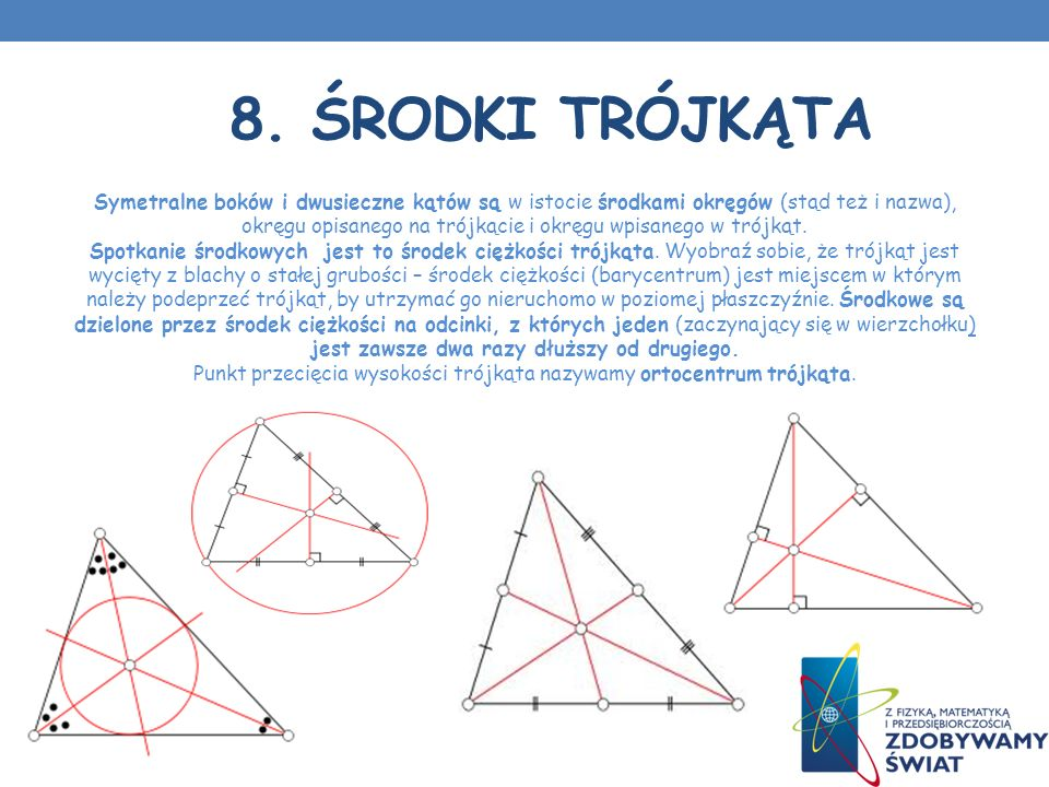 8. Środki trójkąta