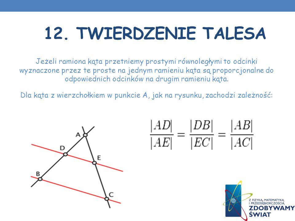 12. Twierdzenie Talesa