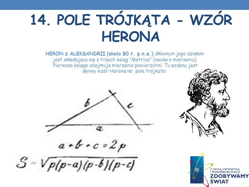 14. Pole trójkąta - Wzór Herona