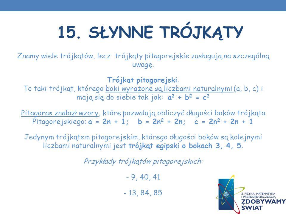 15. Słynne trójkąty