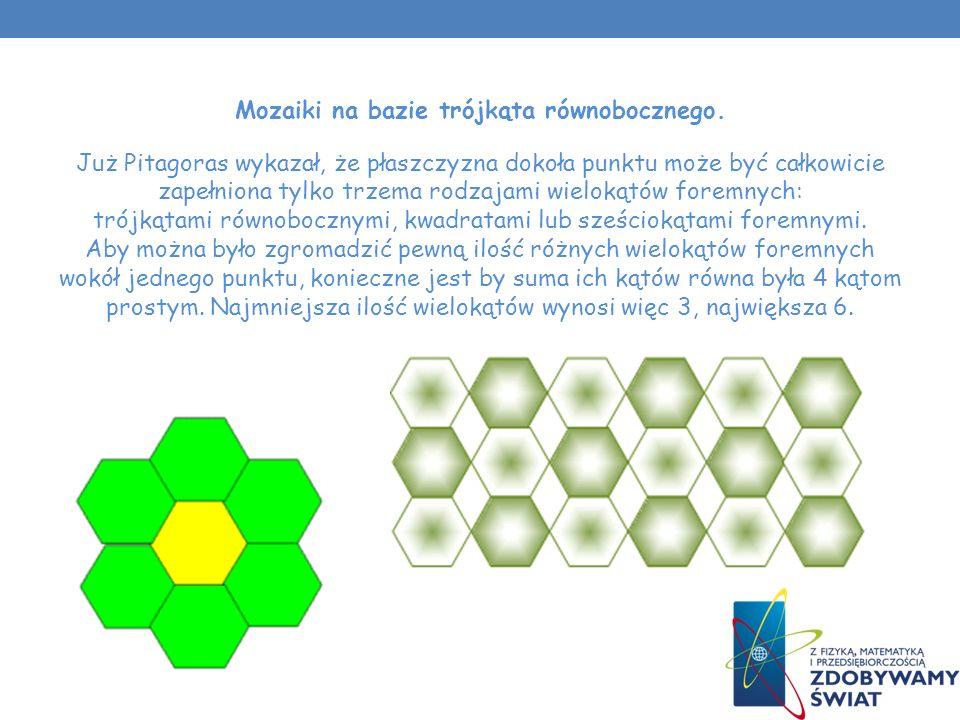 Mozaiki na bazie trójkąta równobocznego