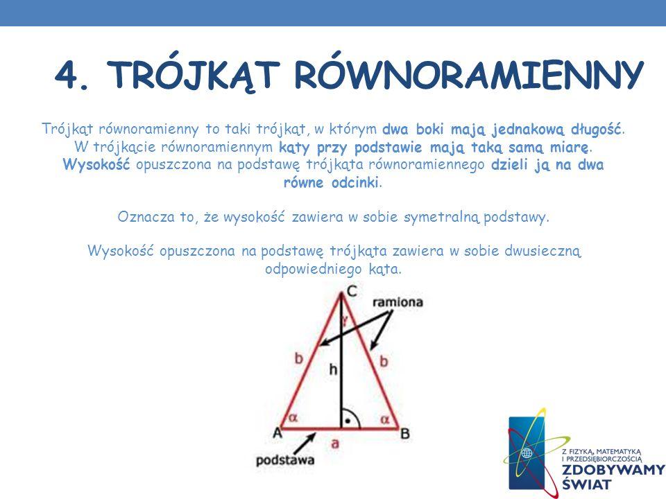 4. Trójkąt równoramienny