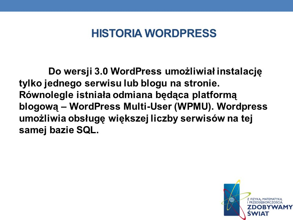 Historia wordpress