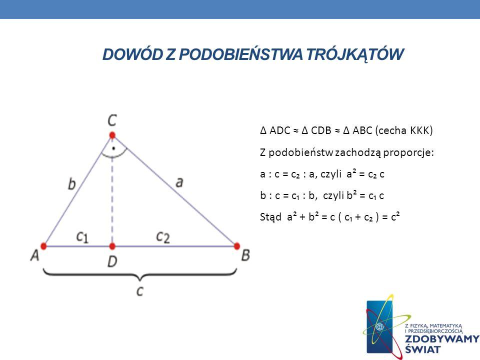 Dowód z podobieństwa trójkątów