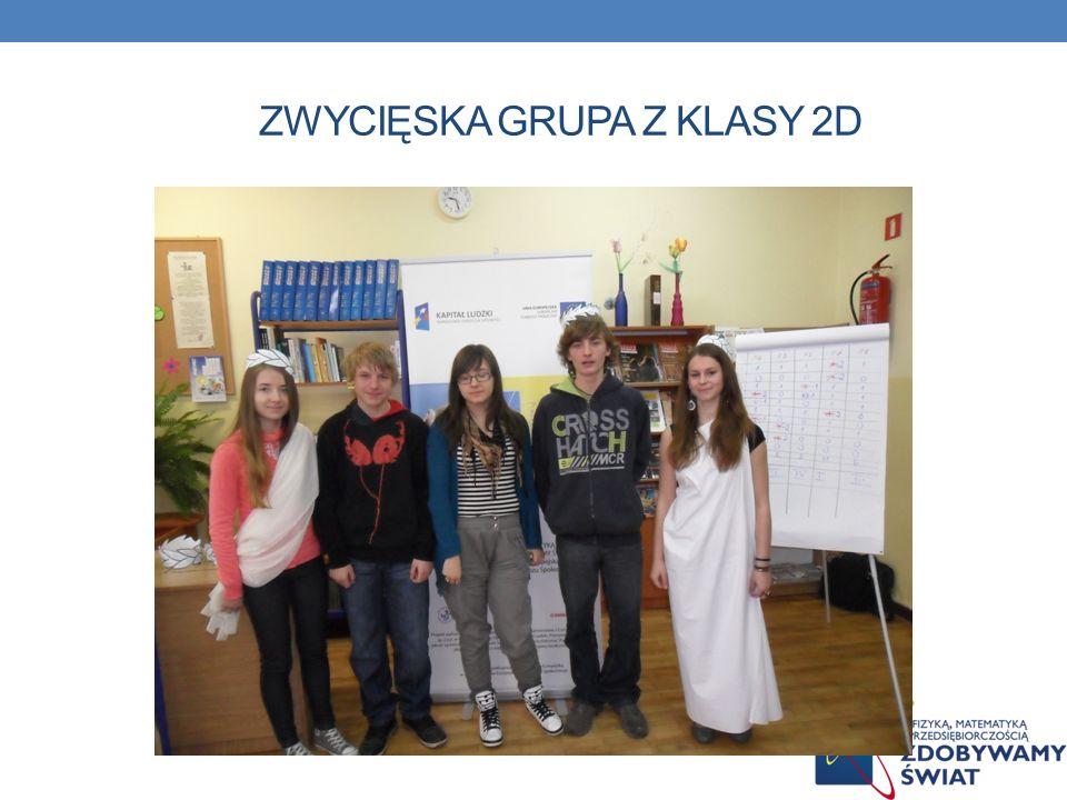 Zwycięska grupa z klasy 2d