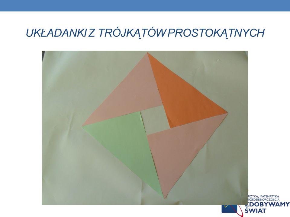 Układanki z trójkątów prostokątnych