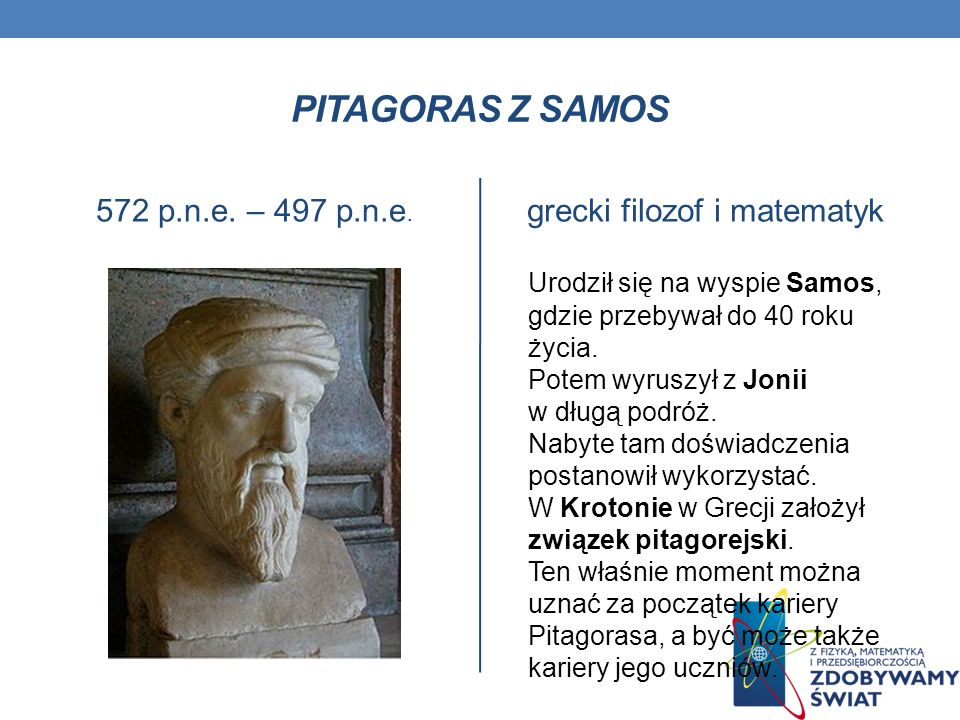 grecki filozof i matematyk