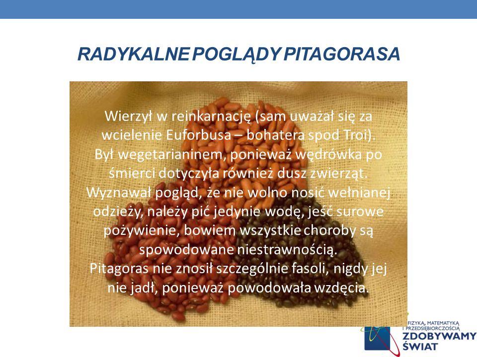 Radykalne Poglądy pitagorasa