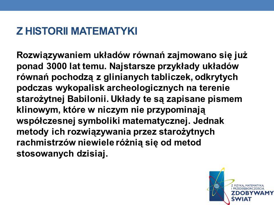 Z historii matematyki