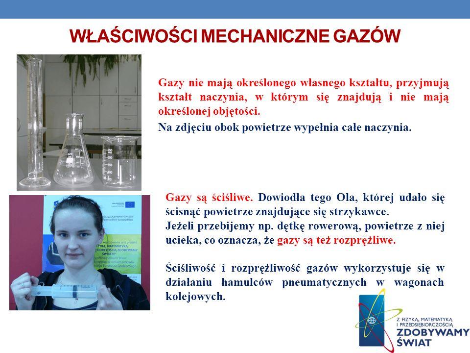 Właściwości mechaniczne gazów