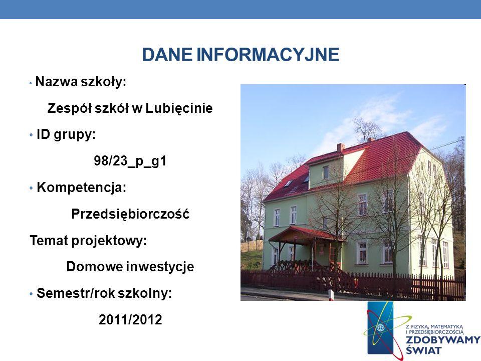 Zespół szkół w Lubięcinie