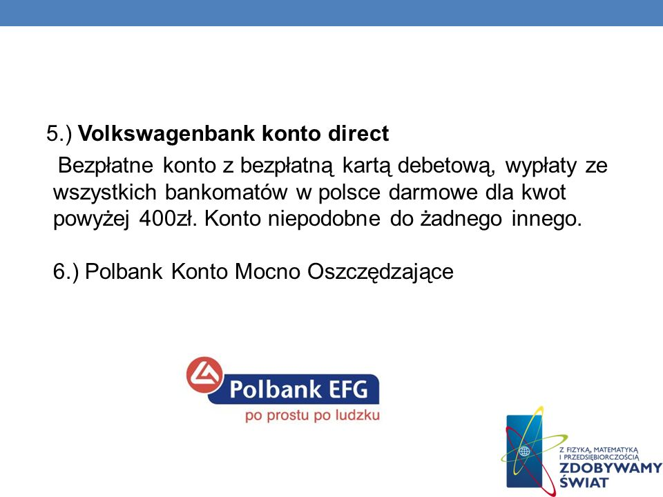 5.) Volkswagenbank konto direct