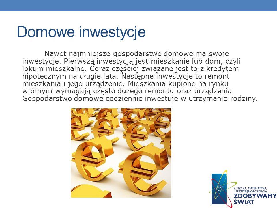 Domowe inwestycje
