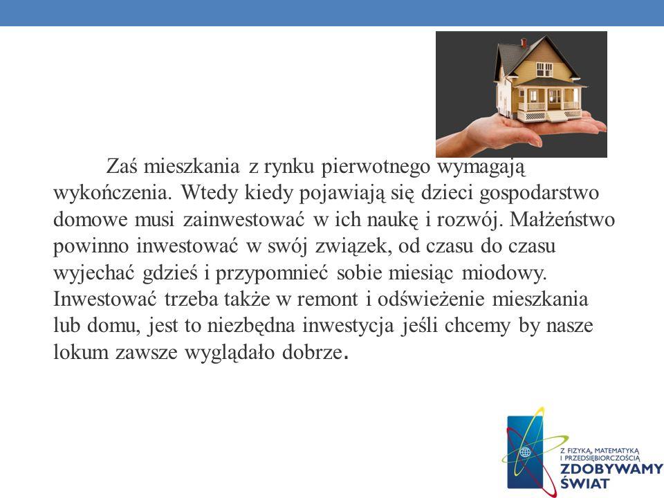 Zaś mieszkania z rynku pierwotnego wymagają wykończenia