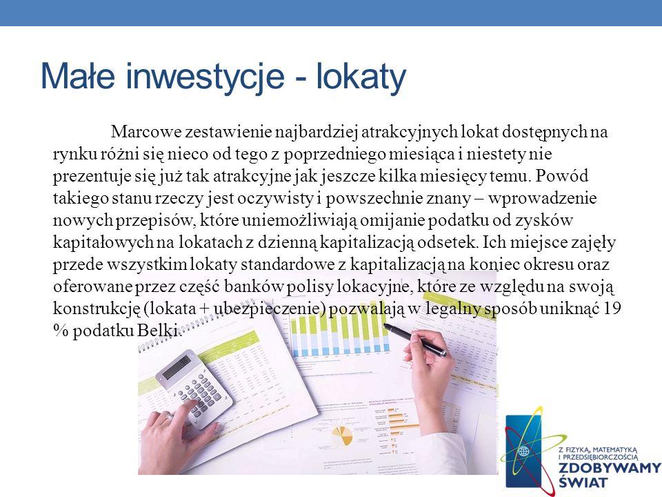 Małe inwestycje - lokaty