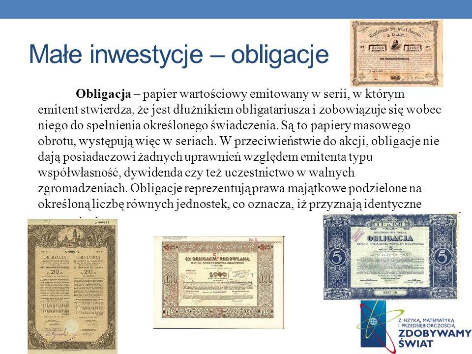 Małe inwestycje – obligacje