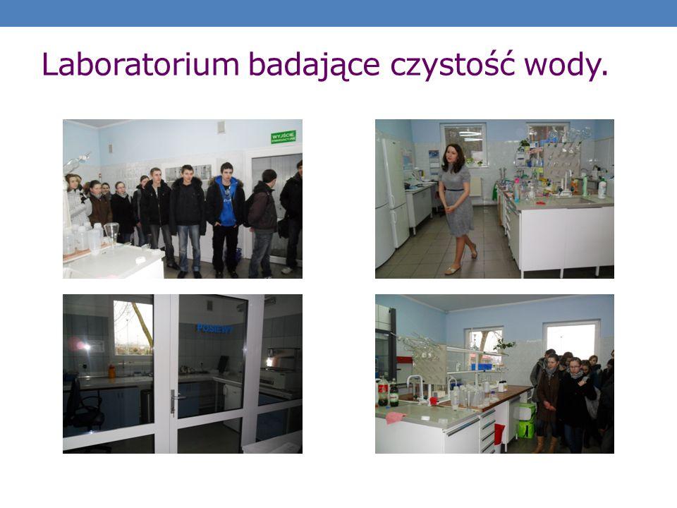 Laboratorium badające czystość wody.