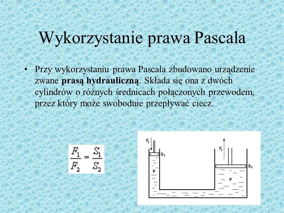 Wykorzystanie prawa Pascala