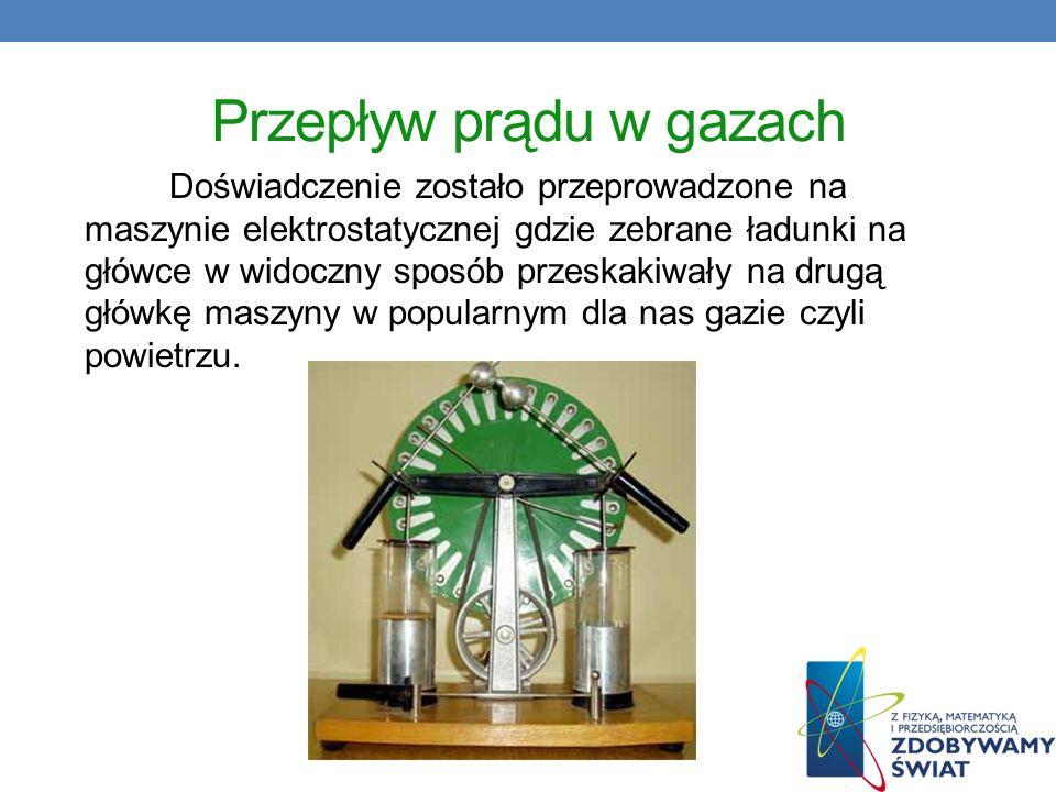 Przepływ prądu w gazach