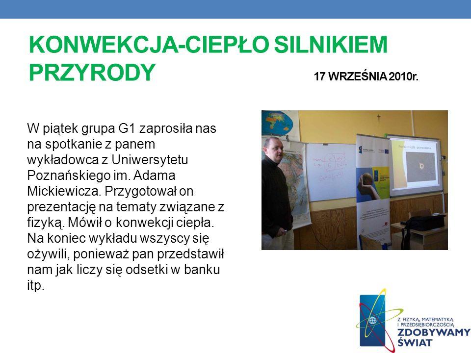 KONWEKCJA-CIEPŁO SILNIKIEM PRZYRODY 17 WRZEŚNIA 2010r.