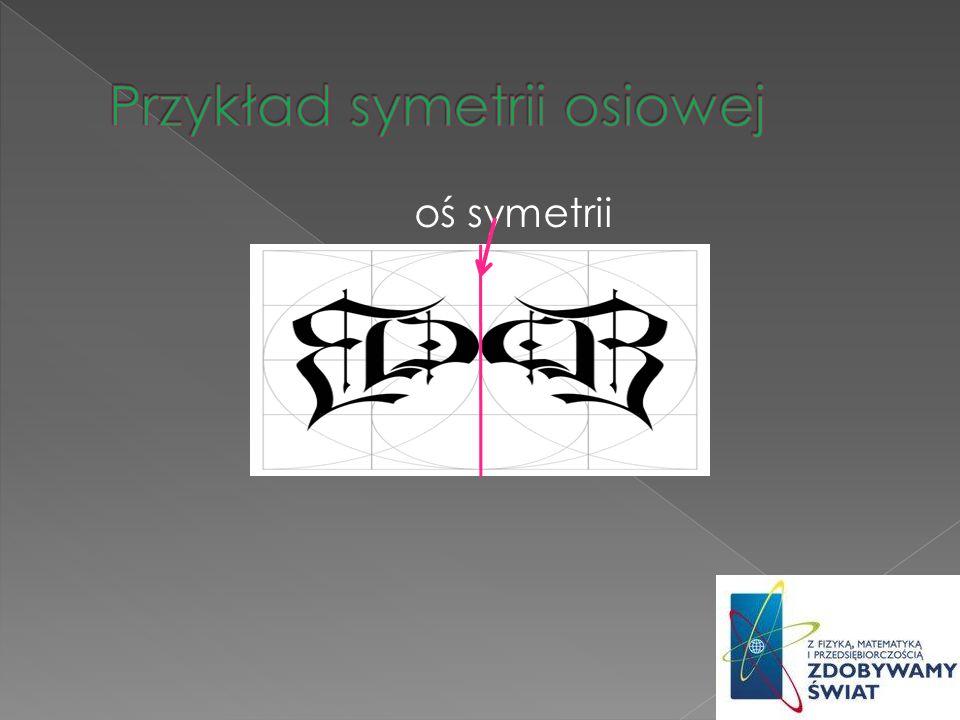 Przykład symetrii osiowej
