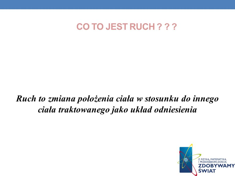 Co to jest ruch .