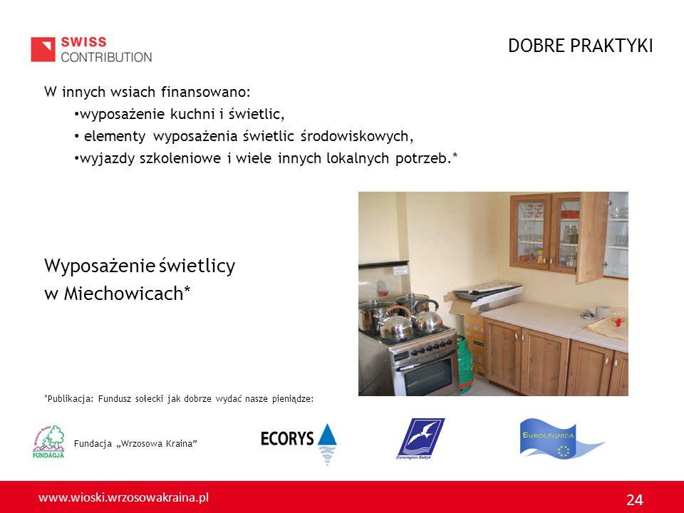 Wyposażenie świetlicy w Miechowicach*