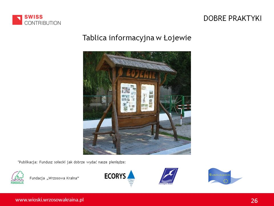 Tablica informacyjna w Łojewie