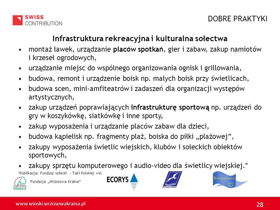 Infrastruktura rekreacyjna i kulturalna sołectwa