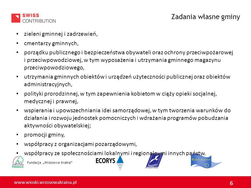 Zadania własne gminy zieleni gminnej i zadrzewień, cmentarzy gminnych,