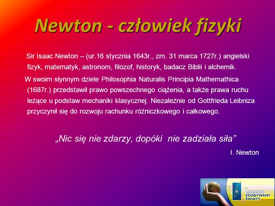 Newton - człowiek fizyki