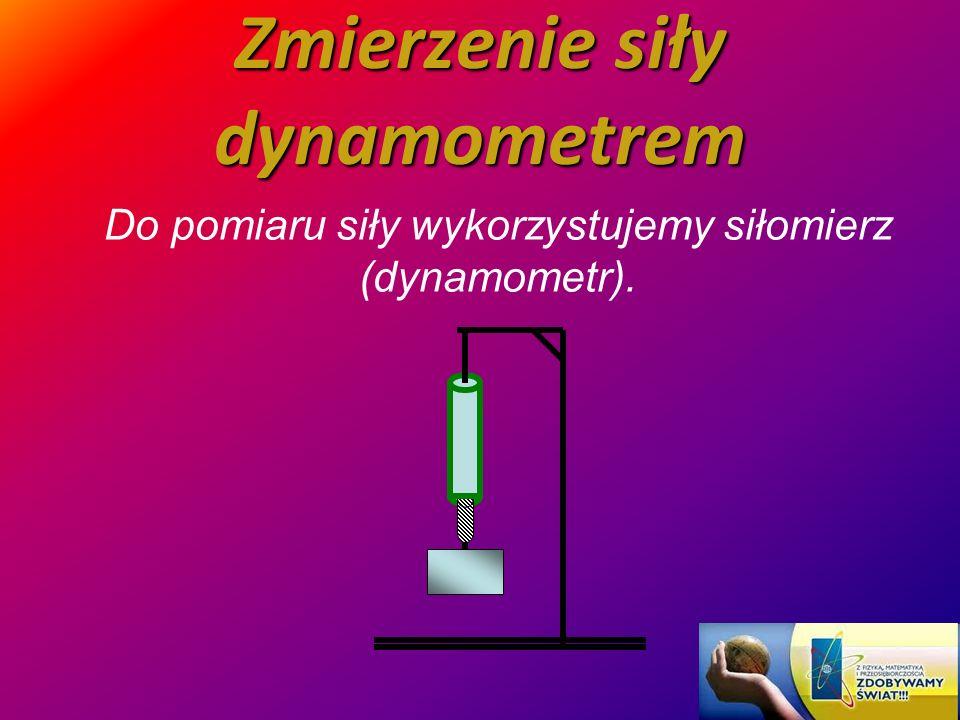 Zmierzenie siły dynamometrem