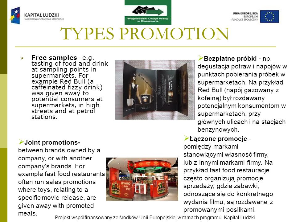TYPES PROMOTION