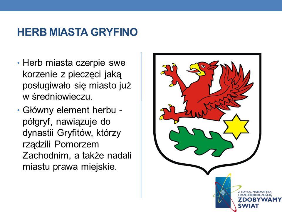 Herb miasta Gryfino Herb miasta czerpie swe korzenie z pieczęci jaką posługiwało się miasto już w średniowieczu.