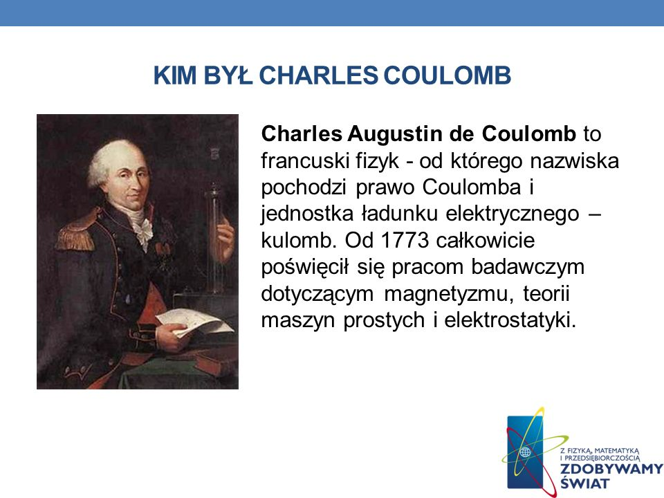KIM BYŁ CHARLES COULOMB