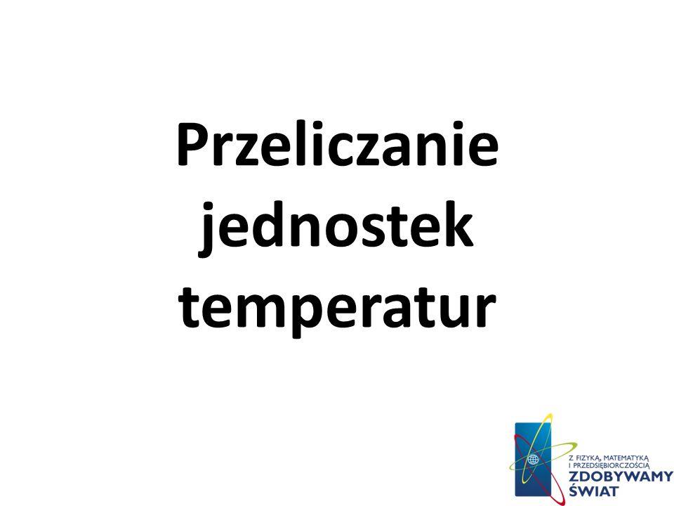 Przeliczanie jednostek temperatur